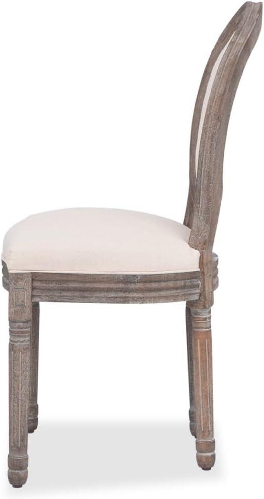 vidaXL 2x Sedie da Pranzo in Polirattan Tessuto Beige Salotto Cucina Seggiole