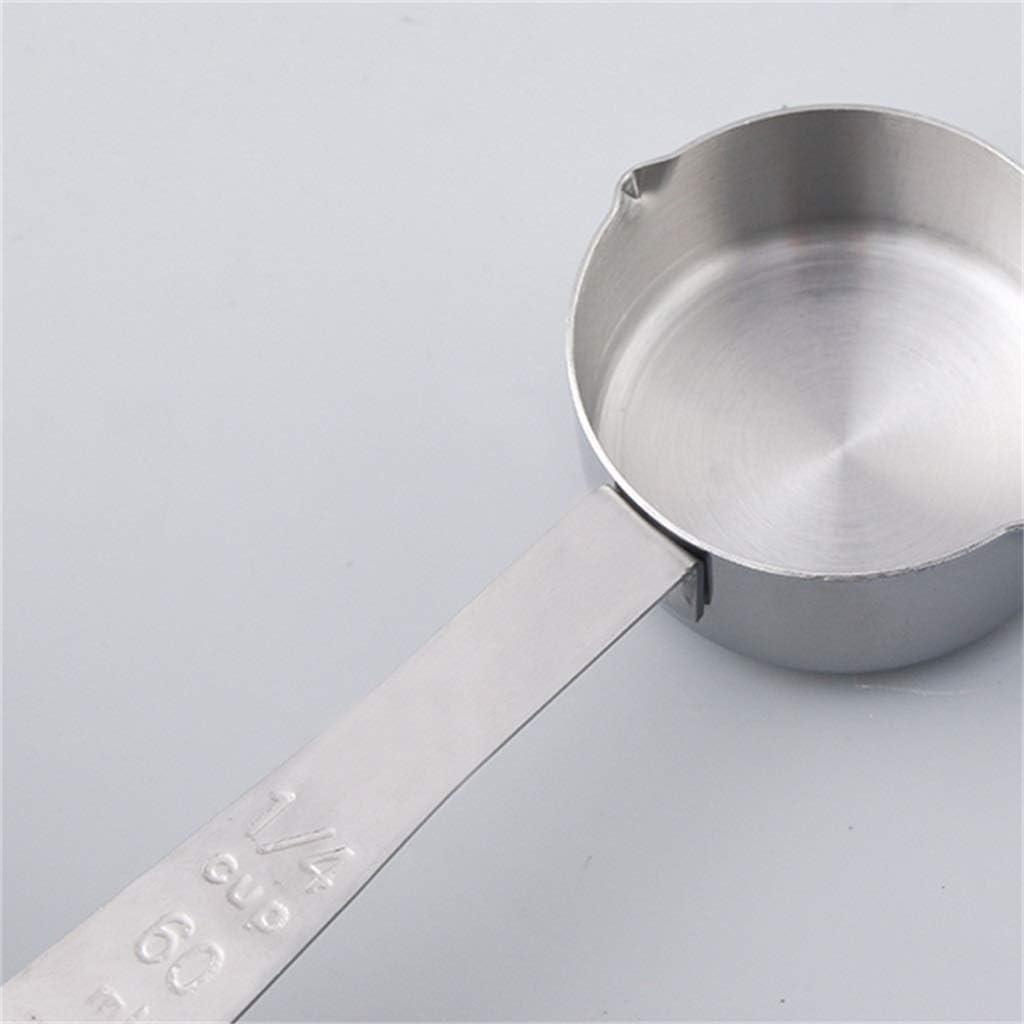ZXL Messlöffel, Messbecher Vierteiliges Set Küche Backen Kochen Messen Edelstahl Antiseptikum Rostschutz Leicht zu reinigen (Größe: # 1) #1