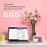 Pink Label Printer, MUNBYN 4x6 Thermal Label