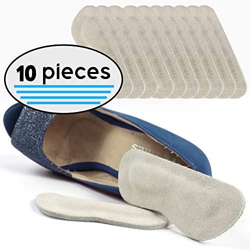 Ulti House 10 Piece Leather Heel Grips, Heel Cushion Inserts, Heel Liners - Blister Resistant Adhesive Heel Liners, Heel Cushions, Heel Protectors for All Shoe Types, Heel Pads