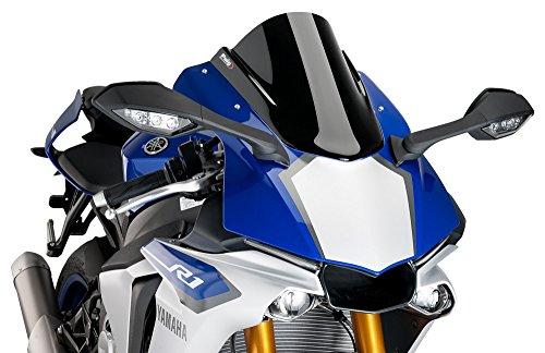 Puig Racing Windscreen 2015 2016 Yamaha YZF- R1 / Black - (Racing Windscreen)