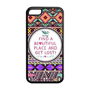 Colorful Aztec Tribal Pattern Protective Rubber Back Fits Cover Case for iPhone 5C