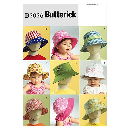 BUTTERICK PATTERNS B5056 Infants'/Toddlers' Hats