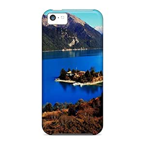 Series Skin Case Cover For Iphone 5c(beautiful Little Isl In A Big Mountain Lake)