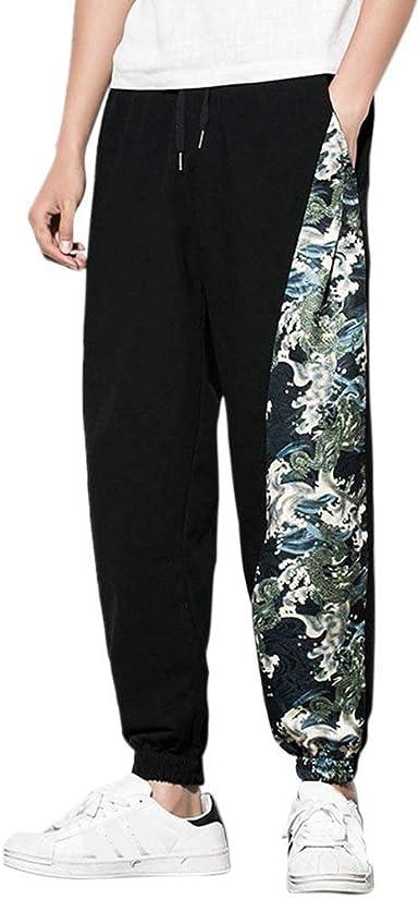 Casual Boho Hippie Baggy Harem Pantalones para Hombre Adolescentes Pantalones Transpirables Aladdin Pantalones De Algodón Suave: Amazon.es: Ropa y accesorios