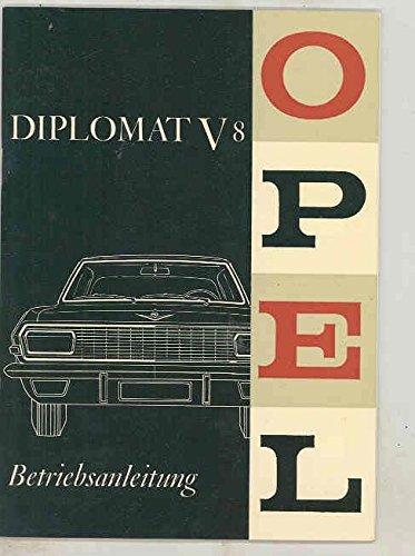 1964 1965 Opel Diplomat V8 ORIGINAL Owner's Manual German