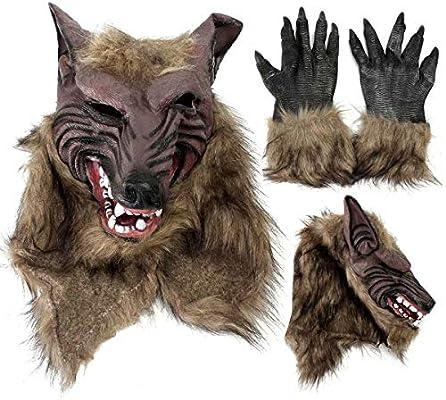 Ungfu Mall - Máscara de látex de Goma, diseño de Lobo, para ...