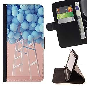 Jordan Colourful Shop - FOR HTC One M9 - I miss you - Leather Case Absorciš®n cubierta de la caja de alto impacto