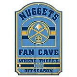 WinCraft NBA Denver Nuggets 38396012 Wood Sign, 11'' x 17'', Black