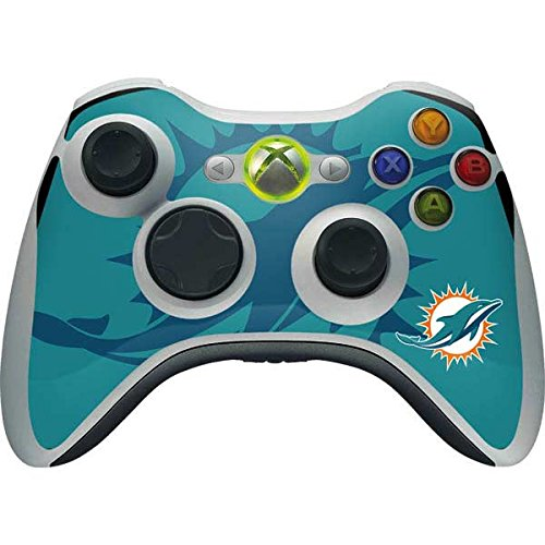 (Skinit NFL Miami Dolphins Xbox 360 Wireless Controller Skin - Miami Dolphins Double Vision Design - Ultra Thin, Lightweight Vinyl Decal Protection)