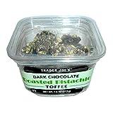 Trader Joe's Dark Chocolate Roasted Pistachio Toffee, 7.5 oz.