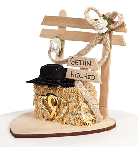 Quot Gettin Hitched Quot Western Wedding Cake Topper Wedding