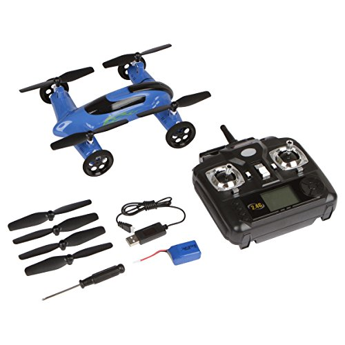 SYMA X9 RC Remote Control 2.4GHz 4-Channel 6-Axis Gyro Quadcopter Drone Car with Battery, Blue