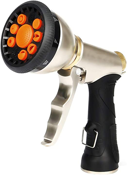 Black Brass Hose Nozzle Water Sprayer Sprinkler Garden Car Wash Floor Clean