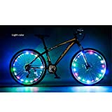 Happy Hours - Waterproof 20 Led Bike Wheel Light String Safety Flash/Led Strip Lamp for Night Riding Cycling Bicycle Spoke Fun Tire Light Working with 3 AA Batteries