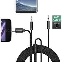 Aux Audio Cable for Car,Wofalodata 2 in 1 Type C to 3.5mm Headphone Adapter with 3.5 mm Male to Male Headphones Jack for Motorola Moto Z/MI 6/HTC U11,iPhone,iPad,Android Phone,Car/Home Stereo Core