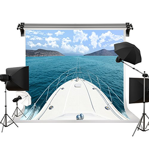 Kate Beach Backgrounds Sea Backdrop Sailboat Backdrops Cruise Ship Backdrop 7x5ft/2.2x1.5m - Boat Photo Print