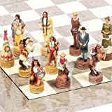 American West Hand Painted Chessmen