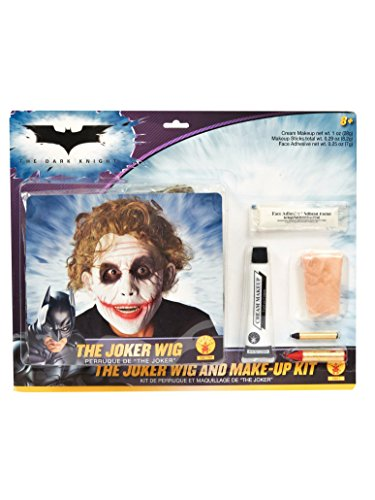 Batman Deluxe Joker Wig And Make Up Kit, Black, One Size ()