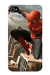 Crazinesswith High Grade Flexible Tpu Case For Iphone 4/4s - The Amazing Spiderman( Best Gift Choice For Thanksgiving Day)