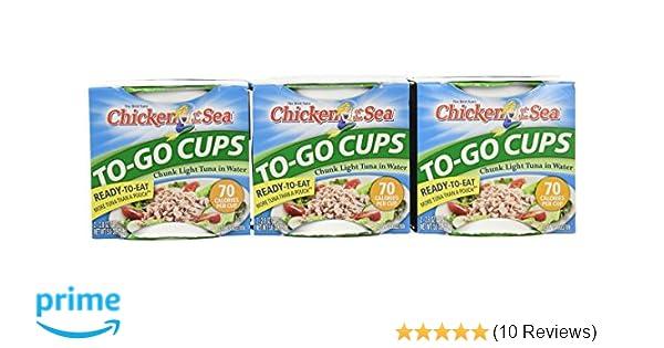 Amazon Chicken Of The Sea Tuna Chunk Light Water Cup 2 28