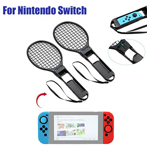 AIUSD Clearance , Tennis Racket ACE Handle Controller Holder for Nintend Switch Jpy-con 1 Pair