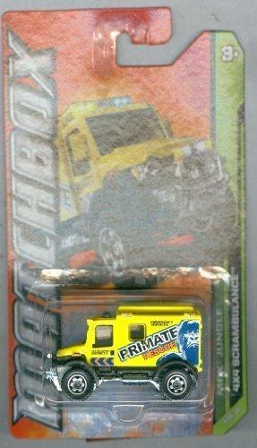 Matchbox Tractor Trailer - Matchbox 2012-109 MBX Jungle 4X4 Scrambulance Yellow