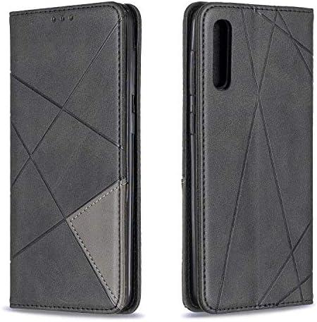 Lomogo Galaxy A50 Hülle Leder, Schutzhülle Brieftasche mit Kartenfach Klappbar Magnetverschluss Stoßfest Kratzfest Handyhülle Case für Samsung Galaxy A50 - LOBFE160070 Rot