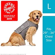 Comfort Zone Calming Vests for Large Dogs, for Thunder & Anxiety