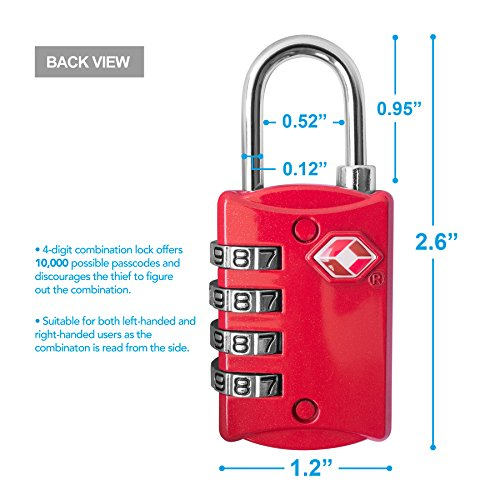 Travel accessories lockdown triple security lock