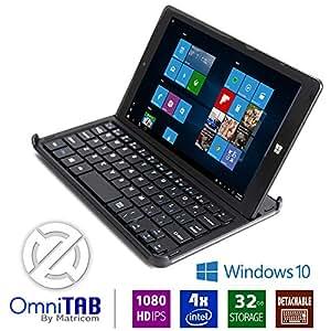 Matricom OmniTAB 8-Inch HD 1GB Windows 10 Tablet PC with Keyboard (Black)