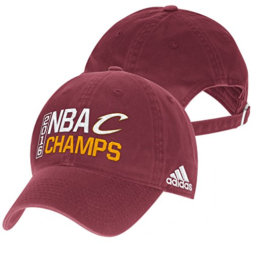 Maroon 2016 NBA Finals Champions Locker Room Champs Adjustable Slouch Hat / Cap (Adidas Nba Team Slouch Cap)