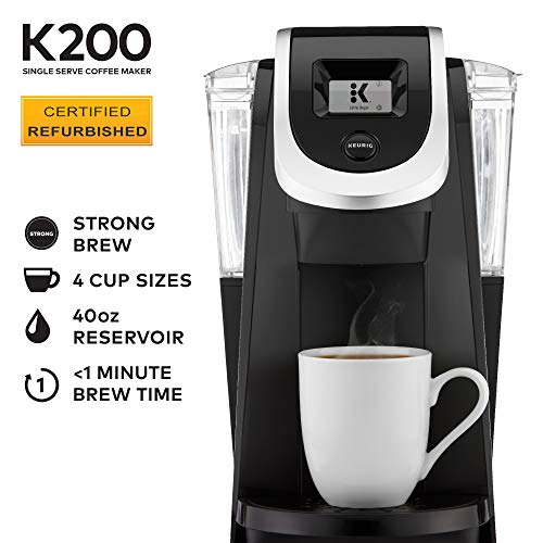 Keurig K200 Single-Serve Programmable, Black (Renewed)
