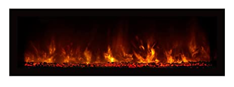 Modern Flames Indoor/Outdoor Electric Fireplace (NOVA 60 G), Black