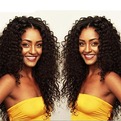 [ATOZWIG Black Color Afro Curly Hair Heat Resistant Black Kinky Curly Wig Synthetic Wigs For Women] (Curly Wigs For Black Hair)