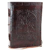 revistas de cuero. Fair Trade Tree Of Life Design Diario de cuero. Cuaderno diario para hombres, mujeres (LIFE)