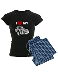 CafePress Women's Dark Pajamas - I love my Mini Cooper Women's Dark Pajamas