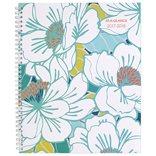 "AT-A-GLANCE Academic Weekly / Monthly Planner, July 2017 - June 2018, 8-1/2"" x 11"", Mia (1018-905A)"