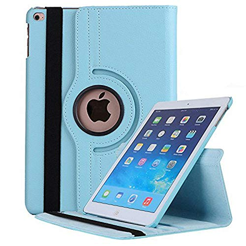 "Price comparison product image iPad Air 3 10.5"" Cover 2019, Jennyfly 360 Degree Rotating Smooth PU Leather Hand-Free Stand Slim Easy Viewing Full Body Protection Case with Multiple Viewing Angles for 2019 iPad Air 3 10.5""-Light Blue"
