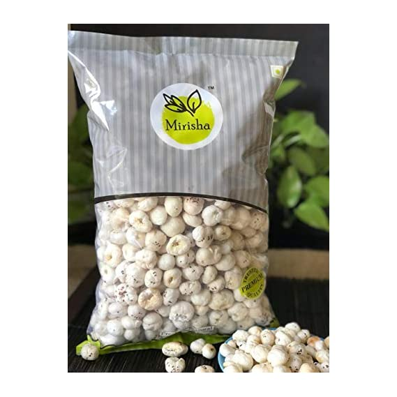 Mirisha Dry Fruits Makhana | Lotus Seeds | Fox Nuts , 250 gm Assorted Nuts (250 GMS Pouch)