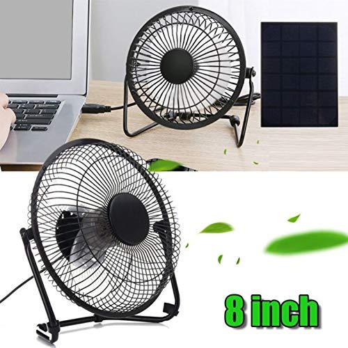 jujingyi officeproductsSolar Panel Powered/USB Charging Iron Fan 8