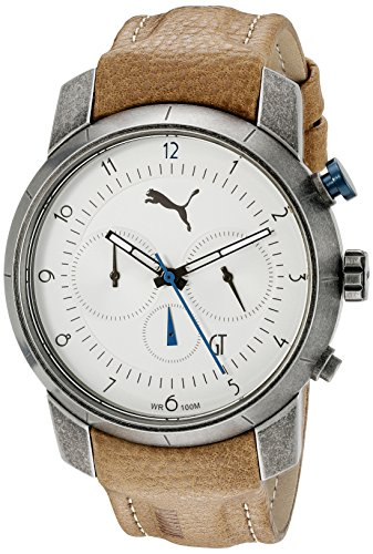 Puma Brown Watch - PUMA Men's PU103341001 Essence Chrono Analog Display Quartz Brown Watch