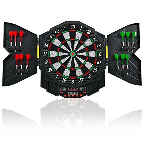 Goplus Electronic Dart Board SetスポーツゲームキャビネットLED表示Professional Dartboard w/12ダーツ
