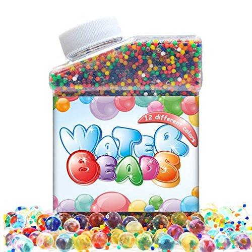 intersone 12カラーミックスレインボーソフトクリスタルOrbeez水ビーズ、子供の触覚Sensoryおもちゃ、花瓶、植物&ホーム装飾、Jelly Growingパールボール、結婚式の、パーティー、プール、水ガン