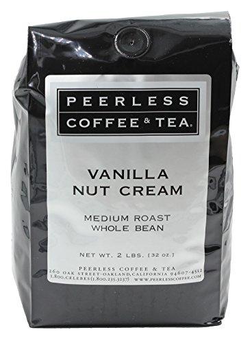 (32oz Vanilla Nut Cream, Whole Bean Coffee, Medium Roast, by Peerless Coffee & Tea (Pack of 1))
