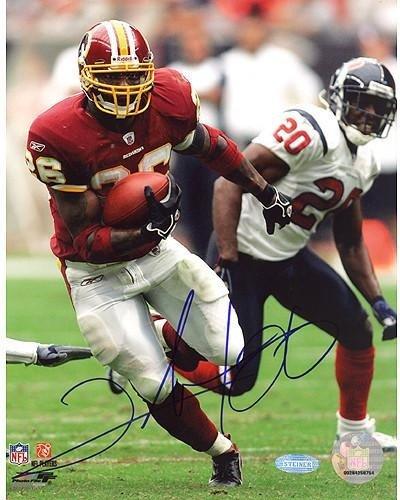 Clinton Portis Run vs Texans 8x10 Autographed Photo - Authentic Signature