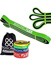 Epitomie Fitness Bionic Flex Pull Up Assistance Band Premium Dual Layer Pull Up Assist Bands For Strength Training Exercise, Physical Therapy, Powerlifting, Stretching Set Of 4 Resistance Bands