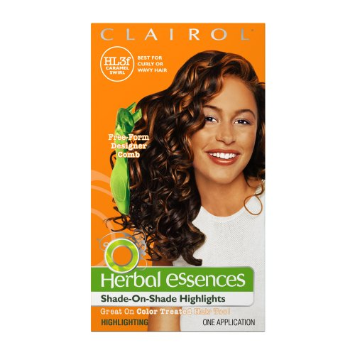 Clairol Herbal Essences Shade-On-Shade Higlights, HL3-f Caramel Swirl, Rich Copper Highlights (Pack of