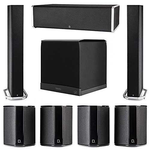 Find a Definitive Technology 7.1 System with 2 BP9060 Tower Speakers, 1 CS9060 Center Channel Speaker, 4 SR9040 Surround Speaker, 1 Definitive Technology SuperCube 6000 Powered Subwoofer