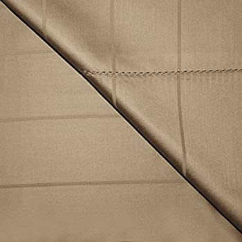 Chateau Home Hotel Collection - Luxury 600 Thread Count 100% Super Combed Cotton Executive Stripe Deep Pocket Super Soft Sateen Weave Sheet Set, Mega Sale Lowest Prices, King - Taupe